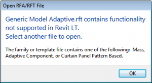Revit LT Family Restriction
